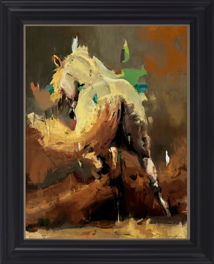 Arabian V by Christian Hook - Framed Canvas on Board
