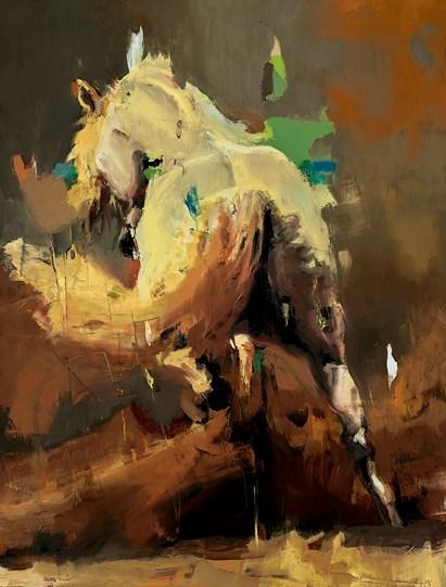 Arabian V by Christian Hook - Canvas on Board